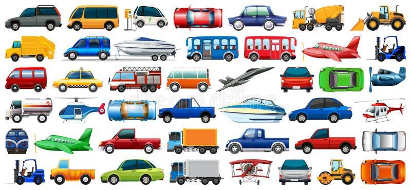 Metta del veicolo del trasporto illustrazione vettoriale