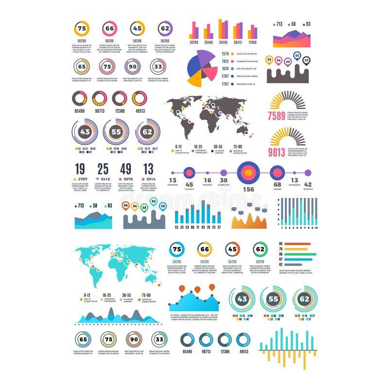 Metta del vettore infographic dell'elemento di affari moderni illustrazione di stock