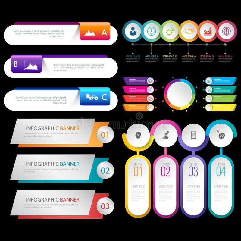 Metta del vettore infographic di progettazione di logo dell'elemento di affari royalty illustrazione gratis