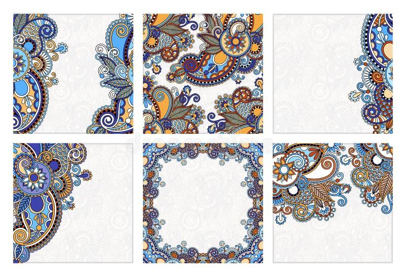 Metta dell'annuncio floreale etnico decorativo decorato della carta royalty illustrazione gratis