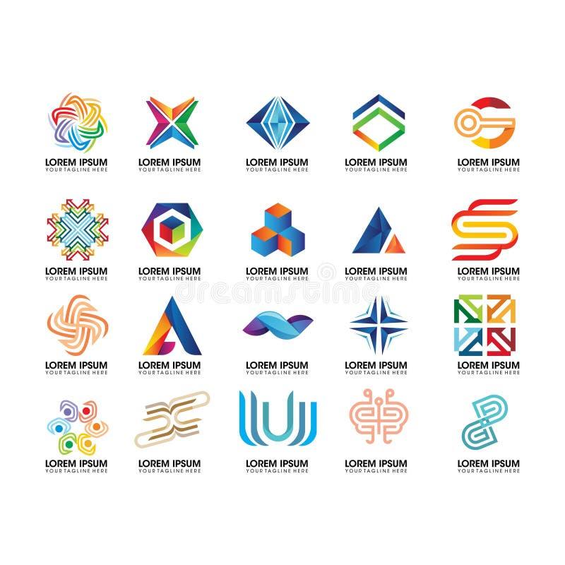 Metta dell'elemento astratto di logo - vettore di progettazione di logo illustrazione vettoriale