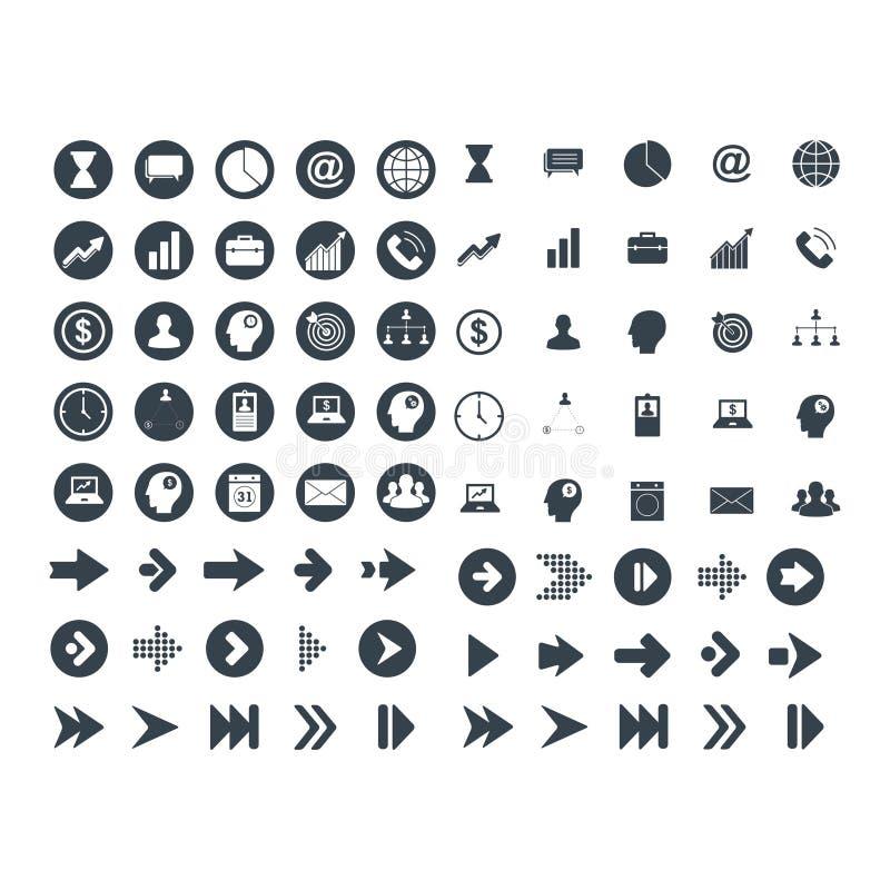 Metta dell'icona della tecnologia e di affari royalty illustrazione gratis