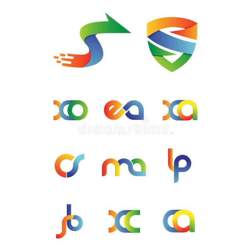 Metta dell'iscrizione astratta di progettazione di logo royalty illustrazione gratis
