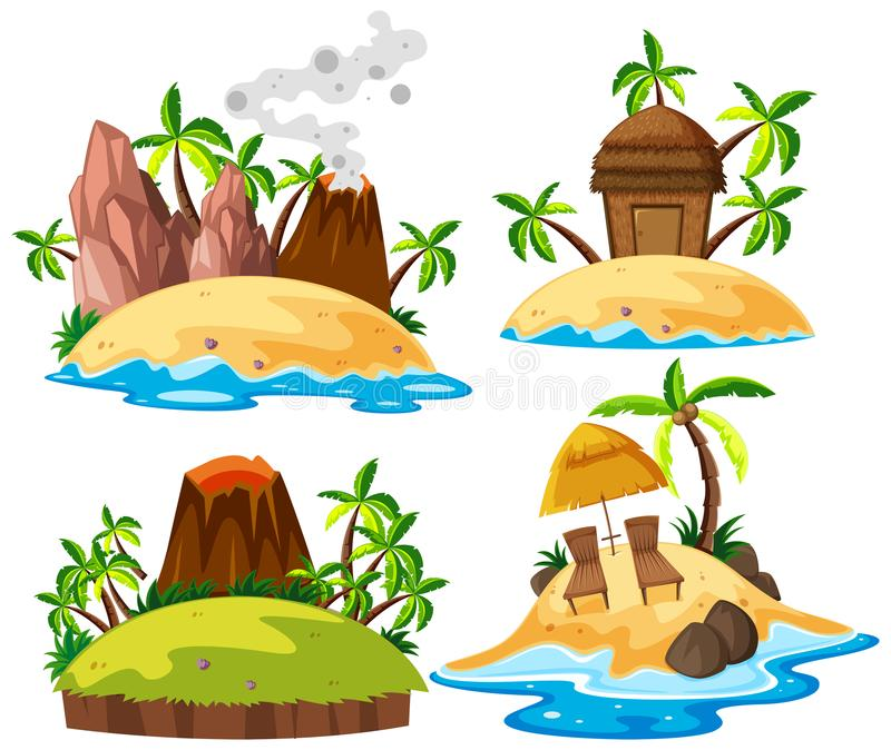 Metta dell'isola isolata illustrazione vettoriale