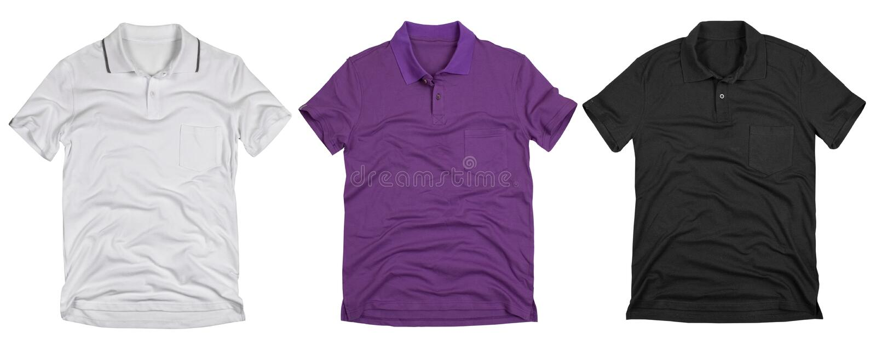 Metta della camicia di polo solated su fondo bianco fotografie stock