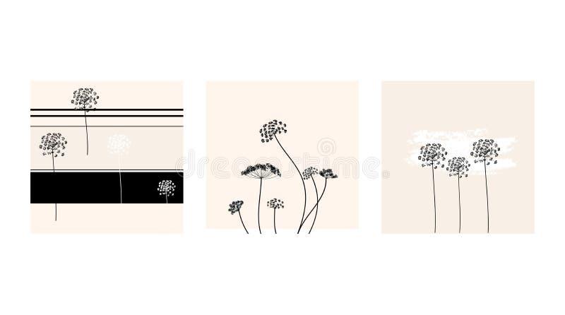 Metta della carta dell'aneto di vettore nei colori pastelli freschi Disegno nello stile del boho Pu? essere usato per tessuto, ca immagine stock