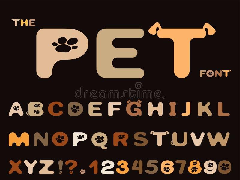 Metta della fonte astratta e dell'alfabeto illustrazione vettoriale