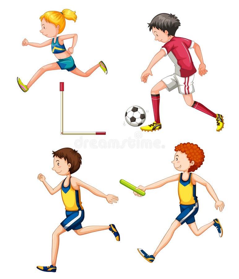 Metta della gente di sport differente royalty illustrazione gratis