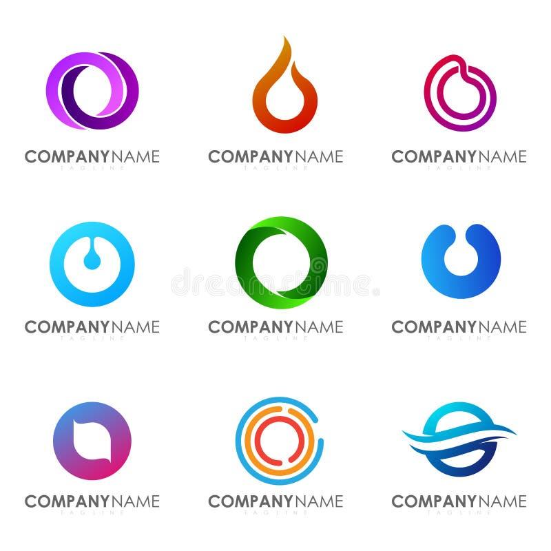 Metta della lettera moderna O di progettazione di logo dell'alfabeto illustrazione vettoriale