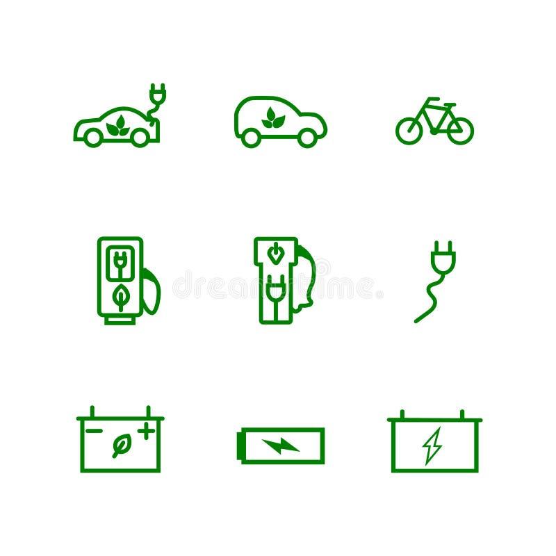 Metta della linea inerente all'andicap icone di vettore Comprende tali icone come handicappati, le grucce, protesi acustica, ciec royalty illustrazione gratis