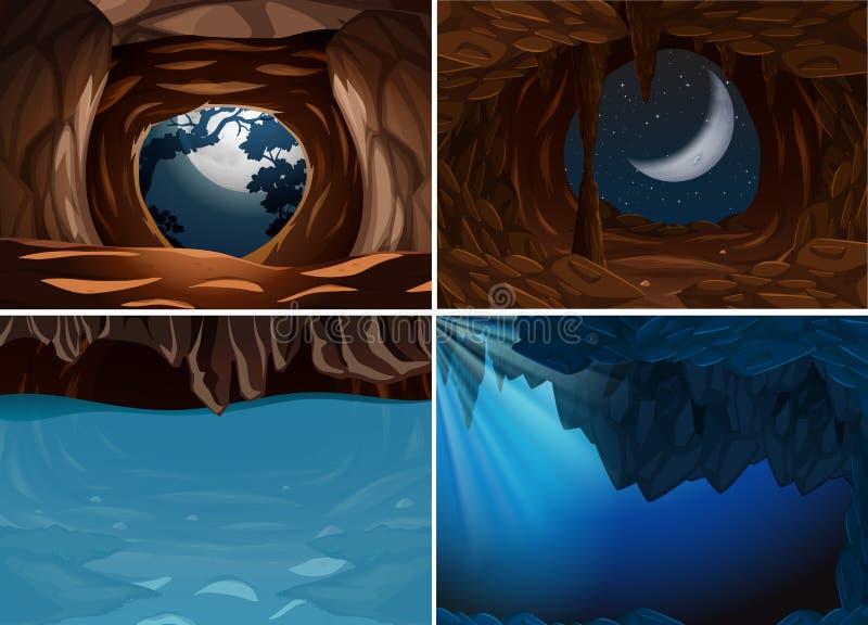Metta della scena interna della caverna illustrazione di stock