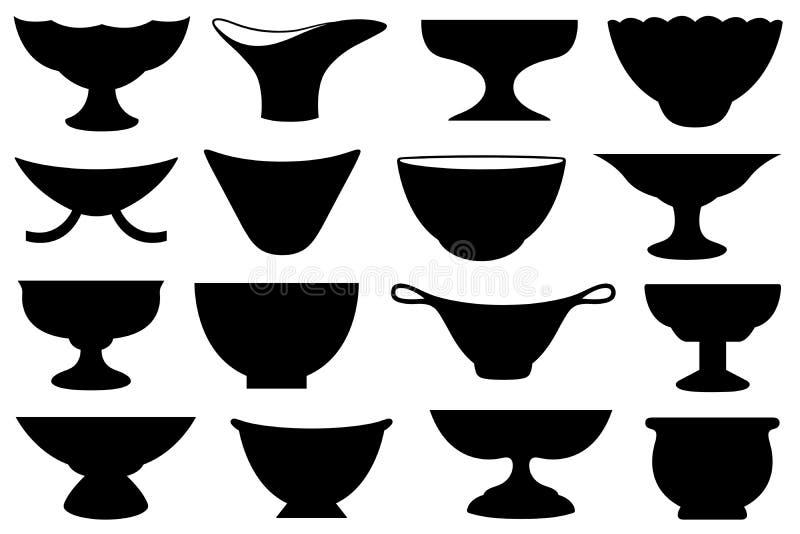 Metta delle ciotole differenti illustrazione vettoriale