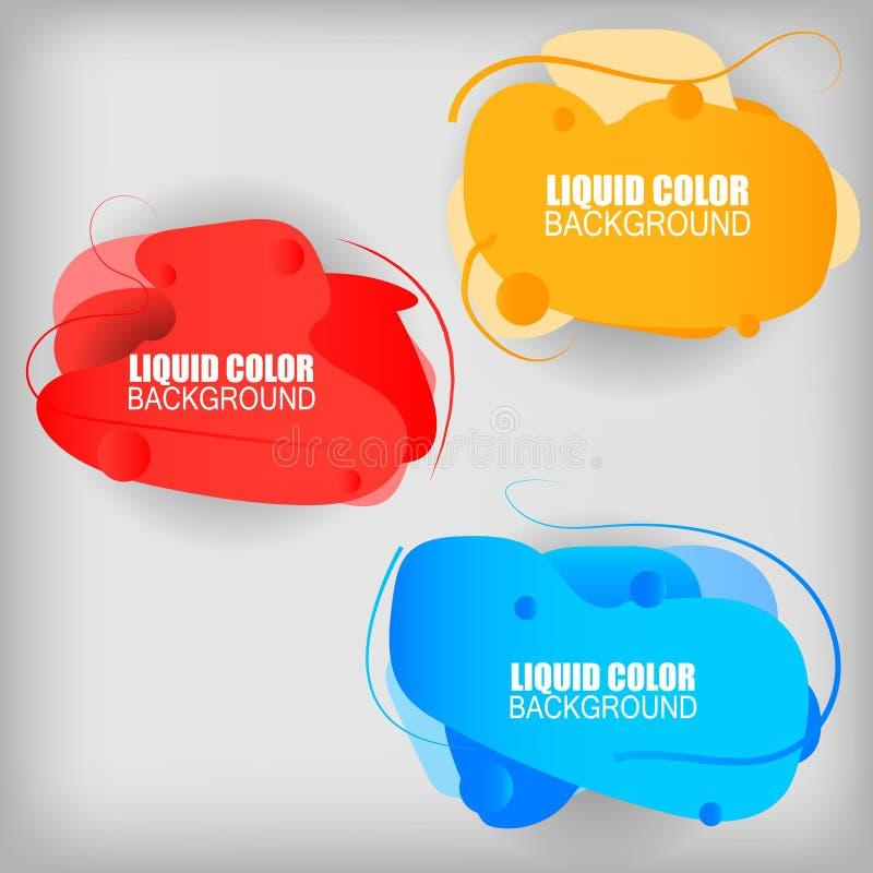 Metta delle onde di plastica di pendenza liquida illustrazione di stock