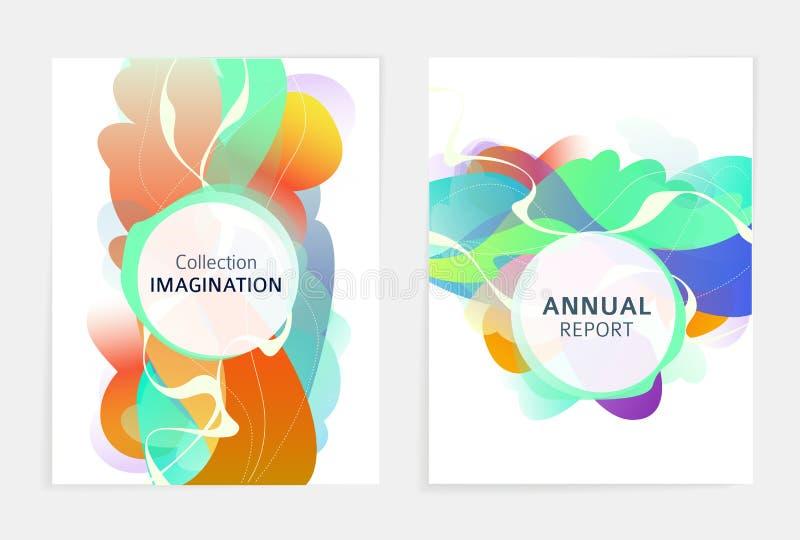 Metta delle progettazioni per l'aletta di filatoio, il broshure, la copertina di libro, il manifesto, il web, rapporto annuale royalty illustrazione gratis