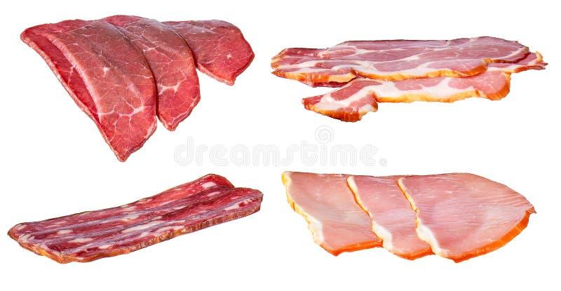 Metta di carne affumicata fredda fotografia stock libera da diritti