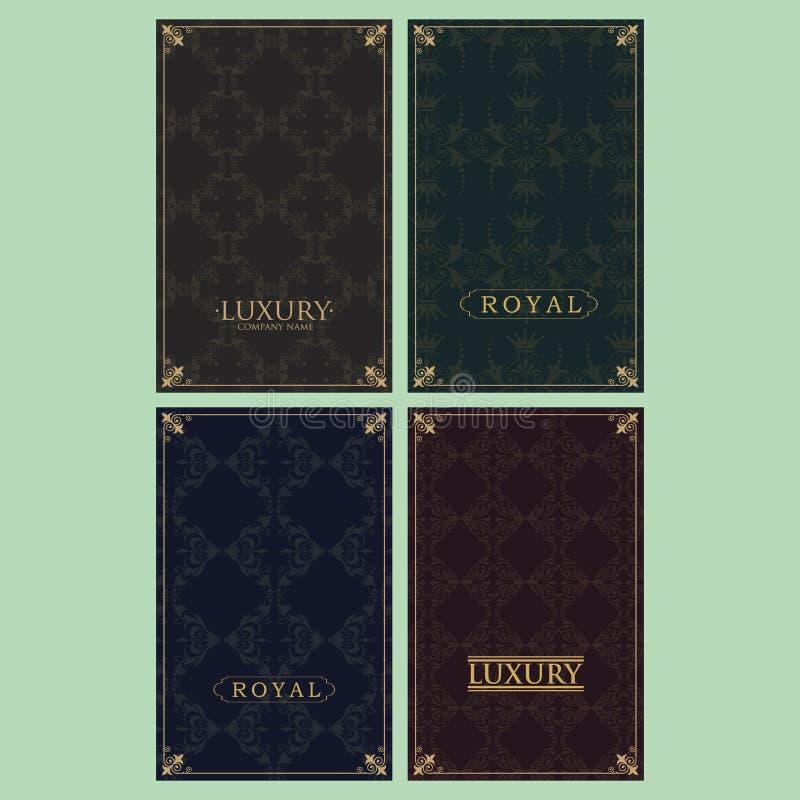 Metta di fondo d'annata di lusso royalty illustrazione gratis