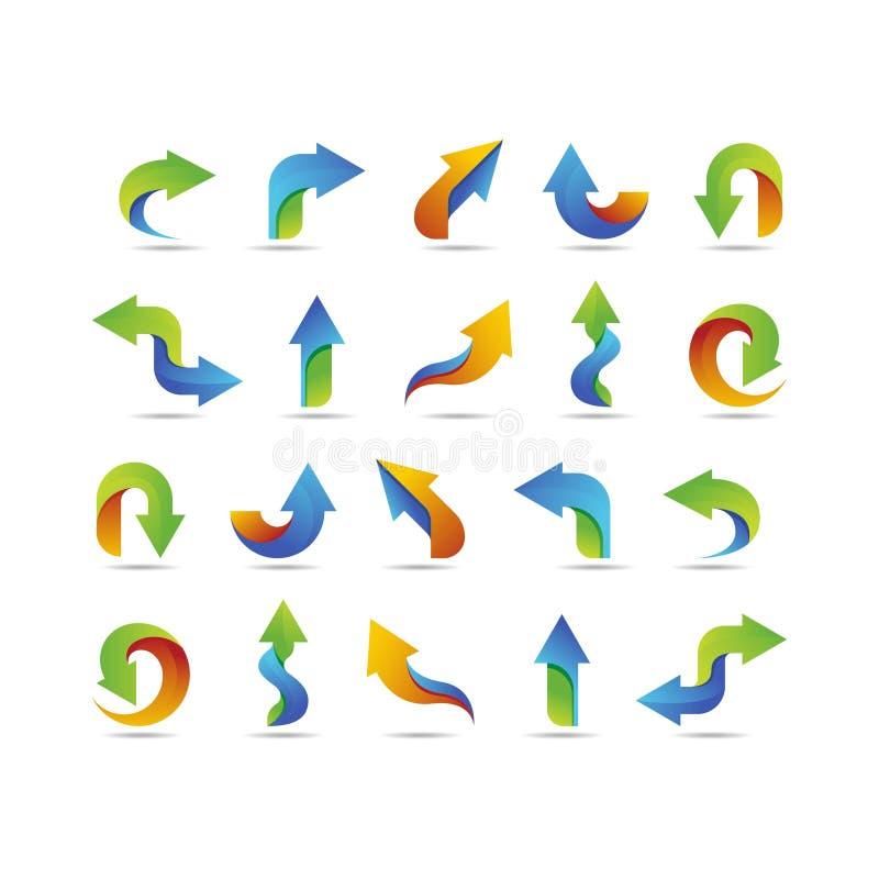 Metta di progettazione di logo della freccia colorato royalty illustrazione gratis