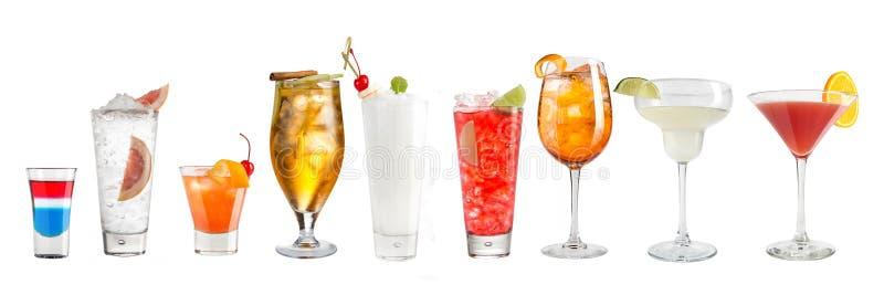 Metta di rinfresco dei cocktail popolari su un fondo bianco Isolato immagine stock