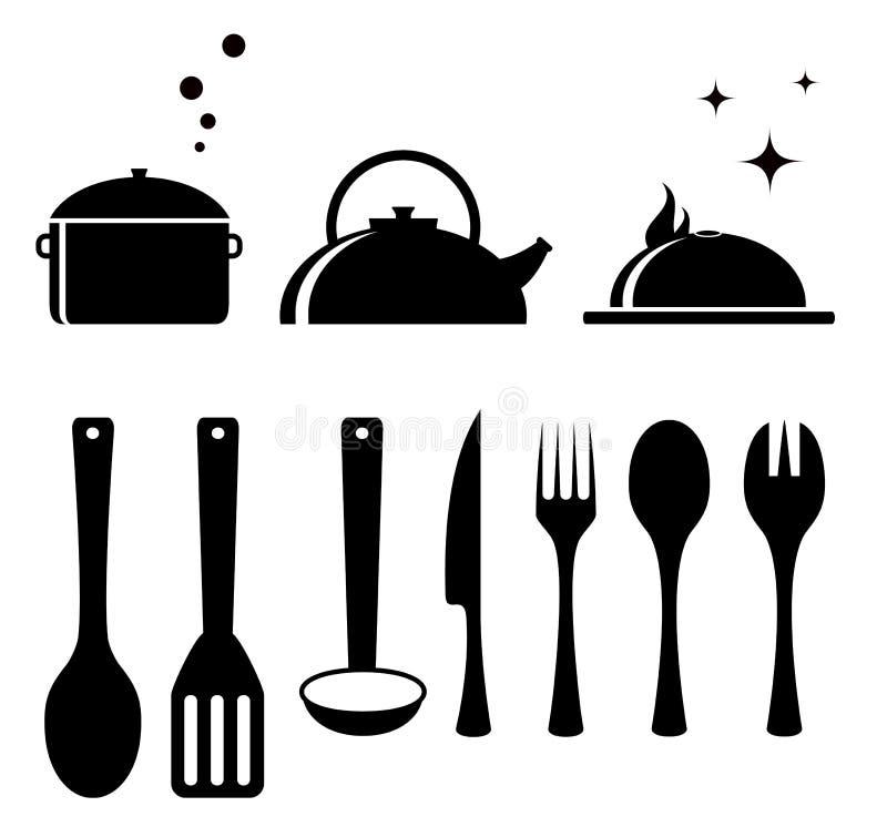 Metta gli strumenti per la cucina illustrazione di stock