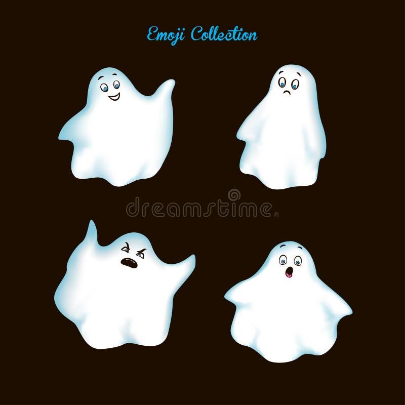 Metta il fantasma d'annata di emoji illustrazione vettoriale
