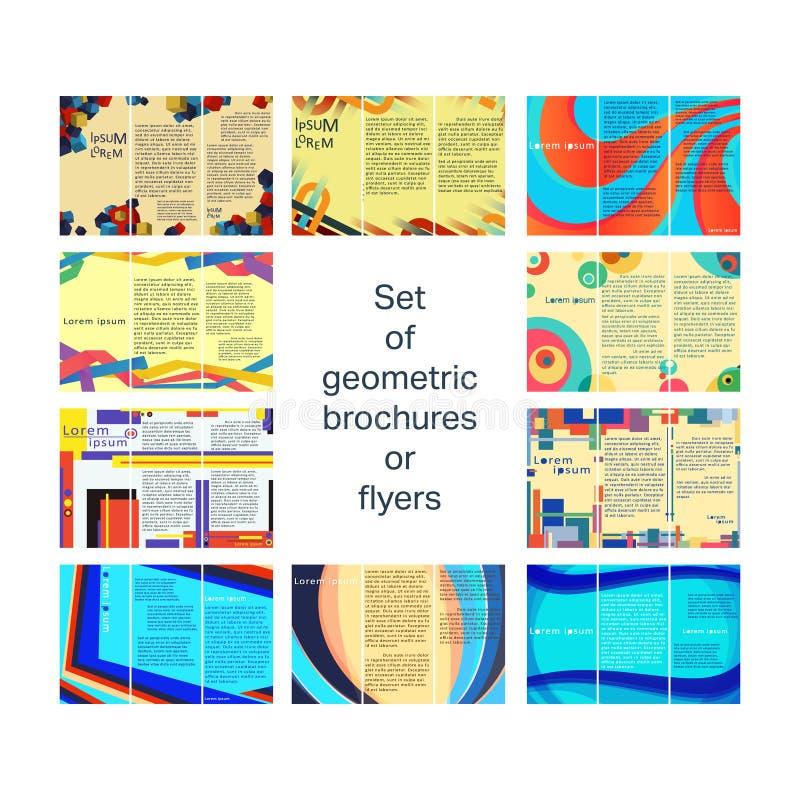 Metta il modello degli opuscoli illustrazione vettoriale
