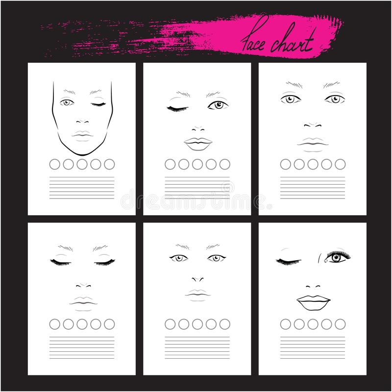 Metta il truccatore Blank del grafico del fronte mascherina illustrazione vettoriale