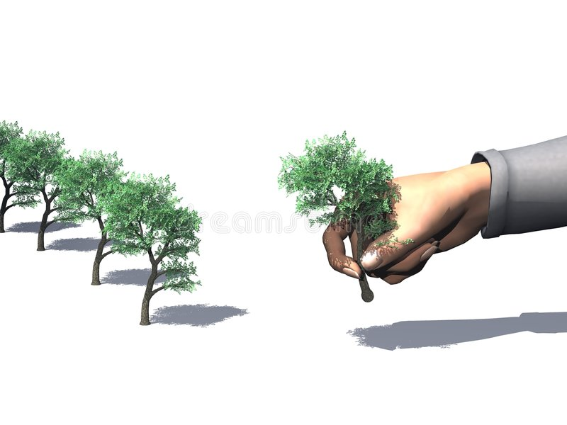 Metta l'albero royalty illustrazione gratis