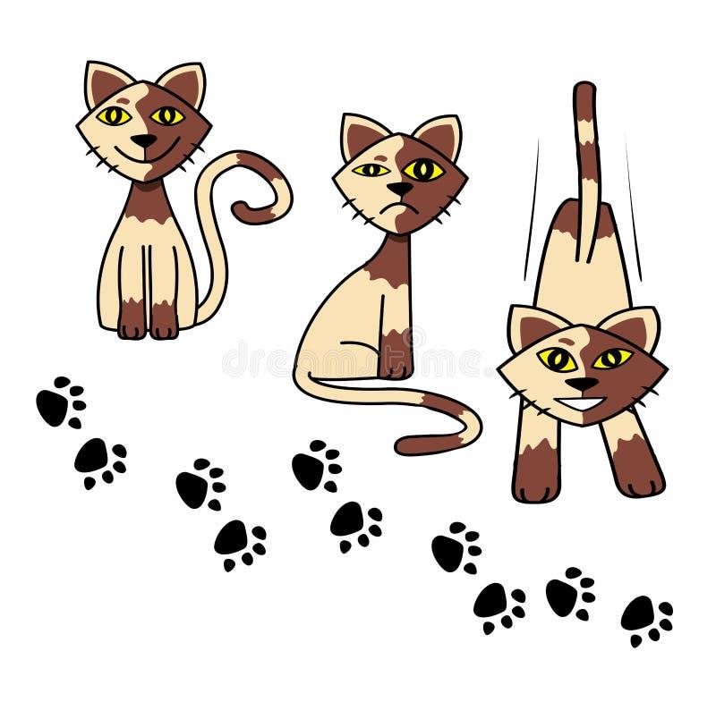 Metta l'icona di vettore del piede di gatti illustrazione di stock