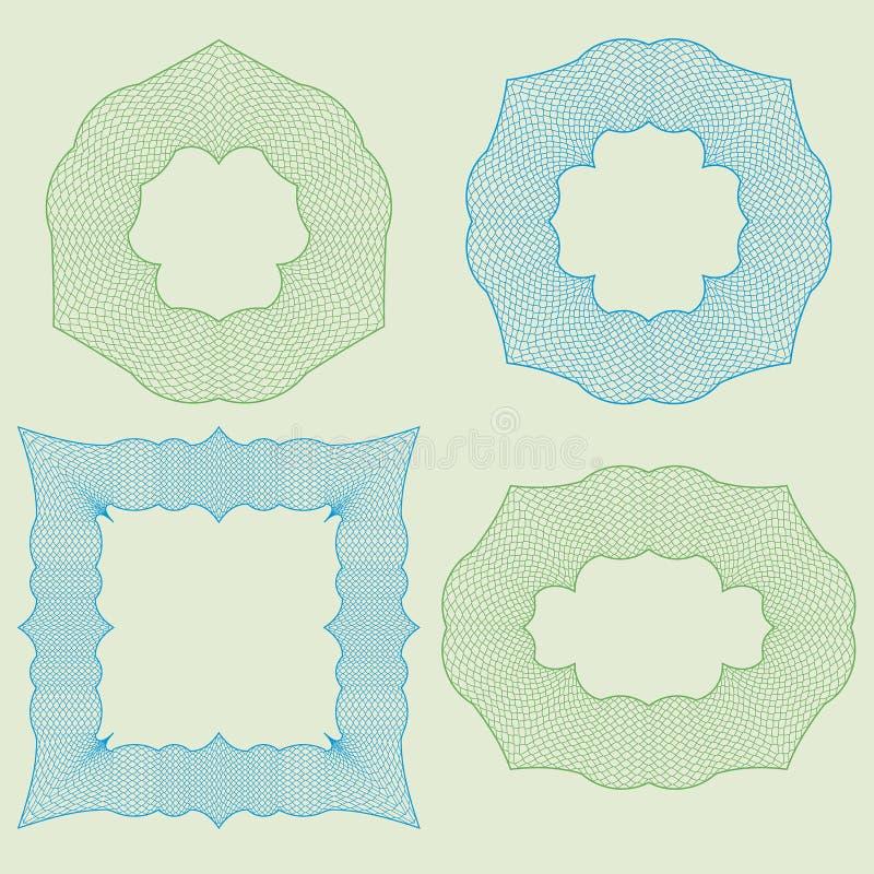 Metta la rabescatura degli elementi illustrazione vettoriale