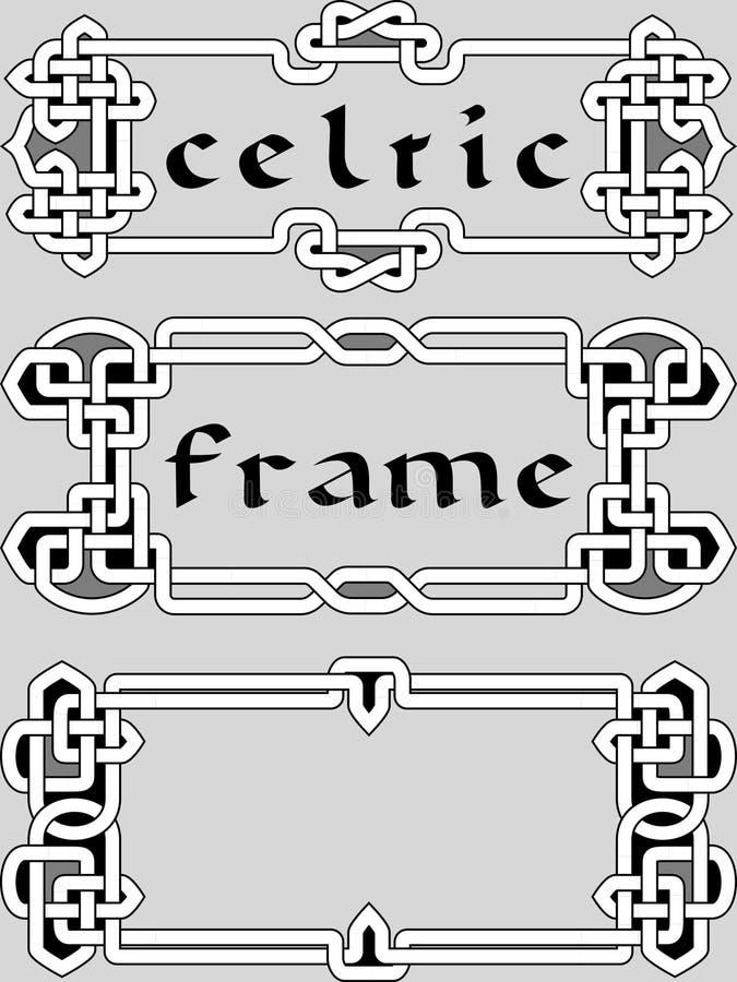 Metta la struttura celtica un elemento di progettazione royalty illustrazione gratis
