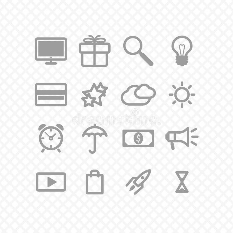 Metta le icone illustrazione vettoriale