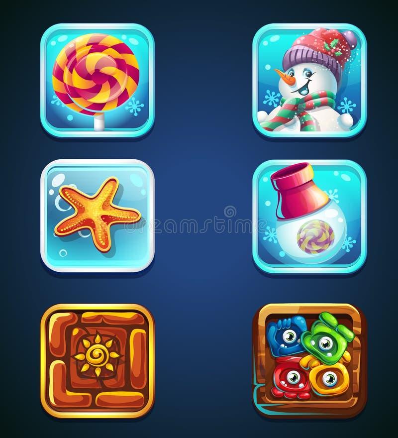 Metta le icone di qualità per il web ed il cellulare illustrazione di stock