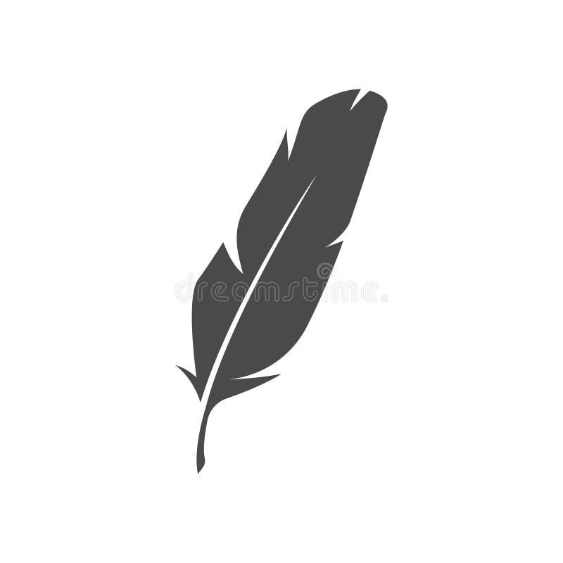 Metta le piume al concetto di simbolo, di logo o del tatuaggio illustrazione vettoriale