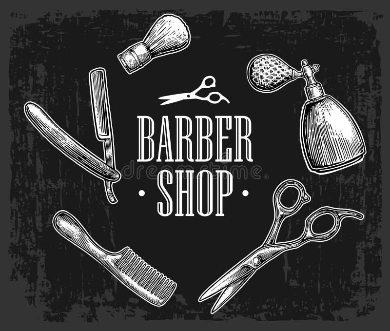 Metta lo strumento per il parrucchiere royalty illustrazione gratis
