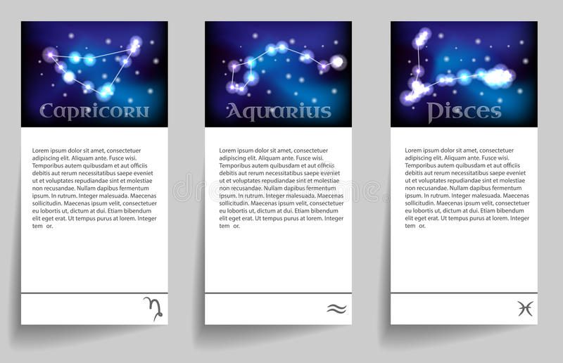 Metta lo zodiaco illustrazione di stock