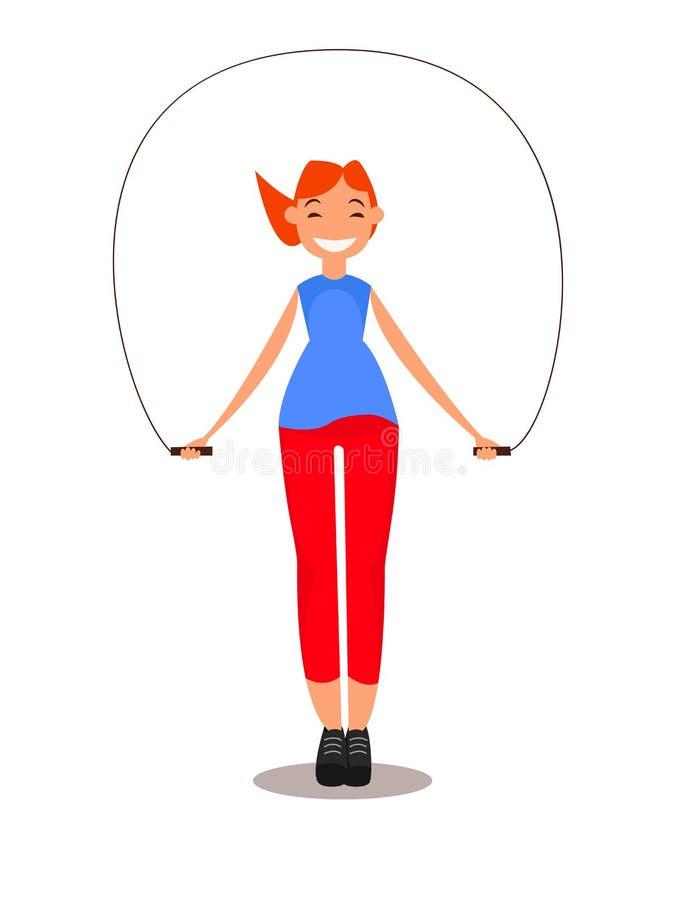 Metta in mostra la ragazza Illustrazione di vettore per web design immagini stock