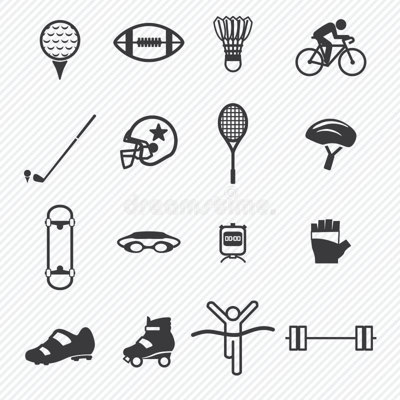 Metta in mostra le icone impostate Illustrazione illustrazione di stock