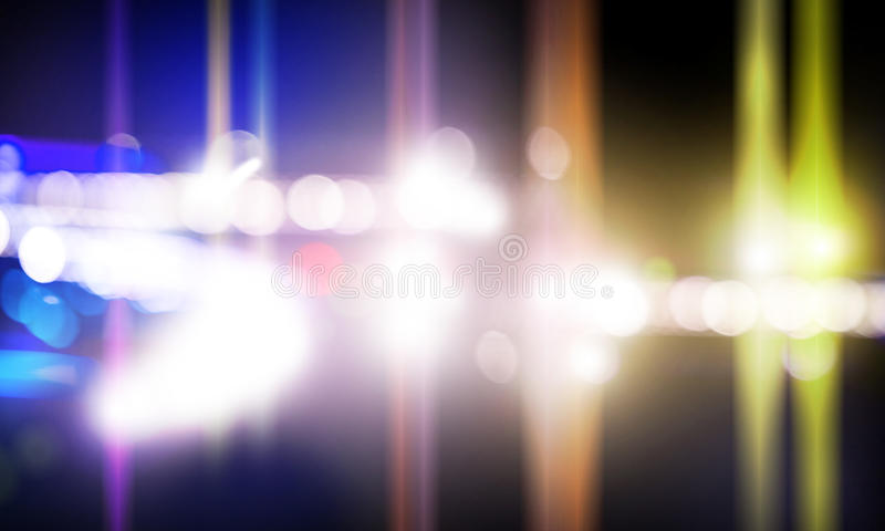 Metta in scena gli indicatori luminosi fotografie stock