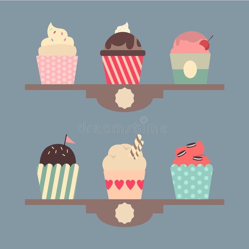 Metta se sei vari gelati fotografie stock libere da diritti