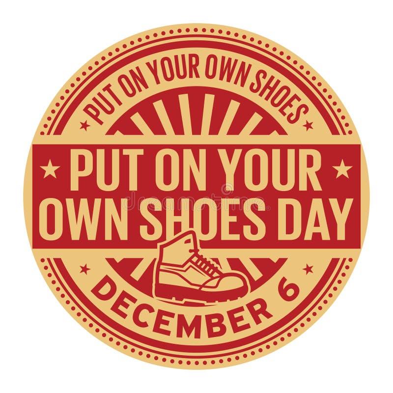 Metta sopra le vostre proprie scarpe il giorno, il 6 dicembre illustrazione vettoriale