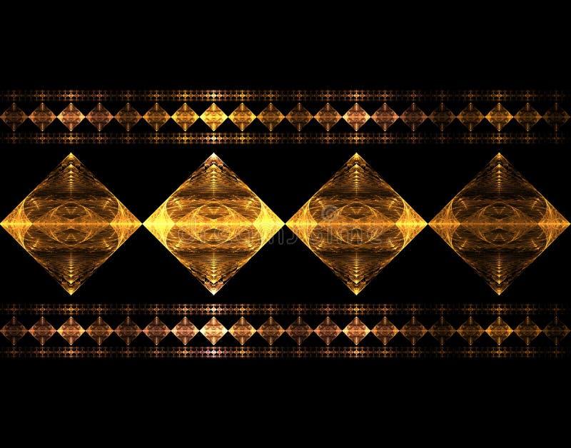Mettalic Diamonds stock illustration