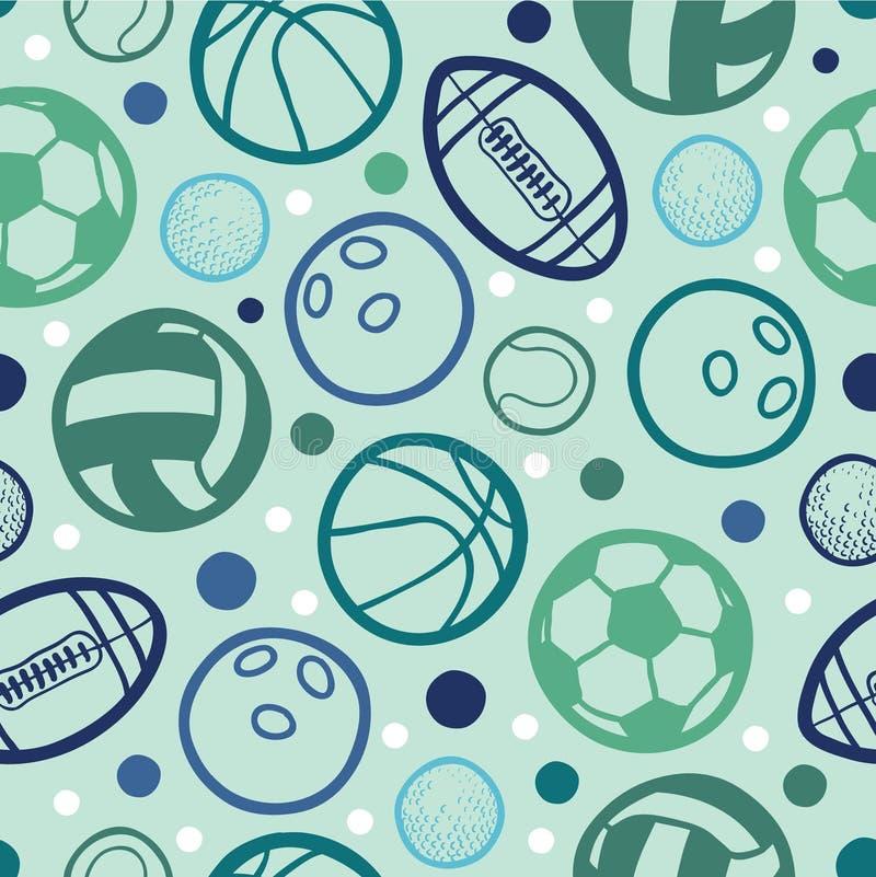 Mette in mostra gli ambiti di provenienza senza cuciture dei modelli delle palle illustrazione di stock