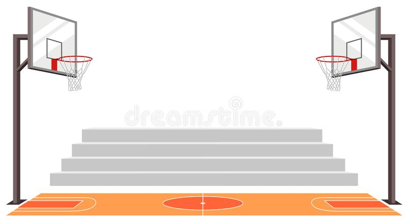 Mette in mostra il campo da pallacanestro vettore della partita illustrazione di stock