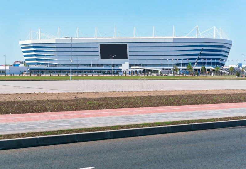 Mette in mostra il complesso, l'impianto sportivo, stadio di football americano in primavera fotografia stock libera da diritti