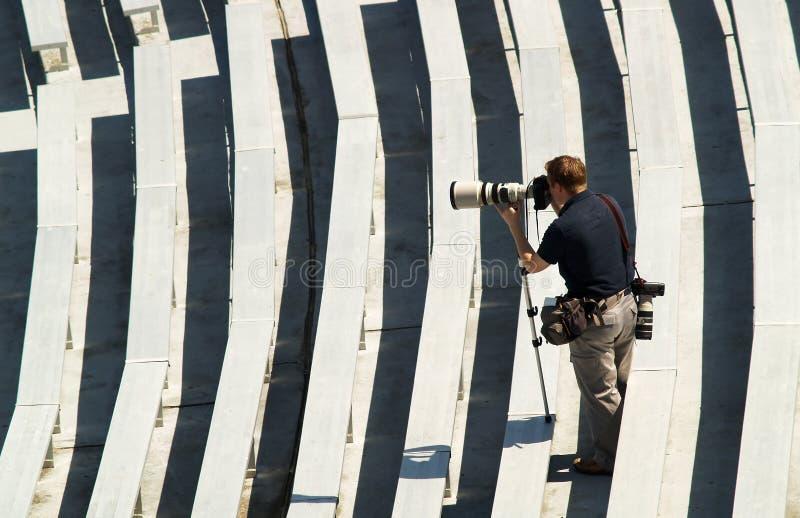 Mette in mostra il fotografo immagini stock