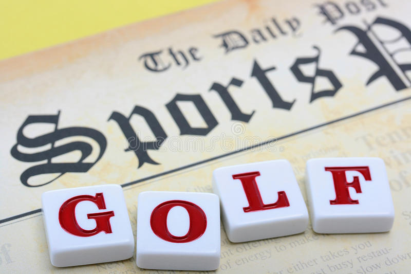 Mette in mostra il golf del gioco immagini stock libere da diritti