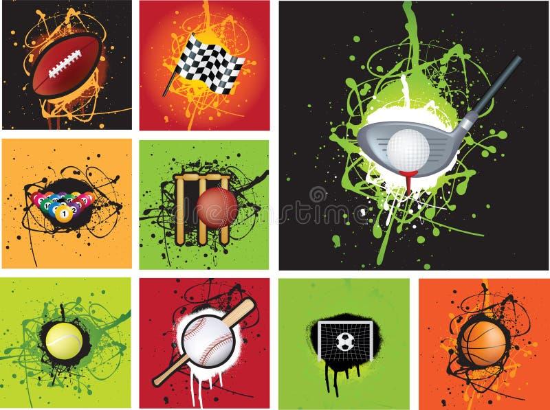Mette in mostra il grunge dell'icona illustrazione vettoriale