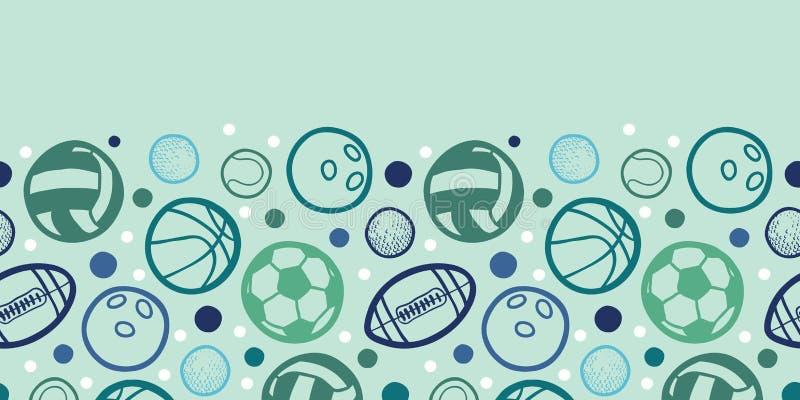Mette in mostra il modello senza cuciture orizzontale delle palle royalty illustrazione gratis