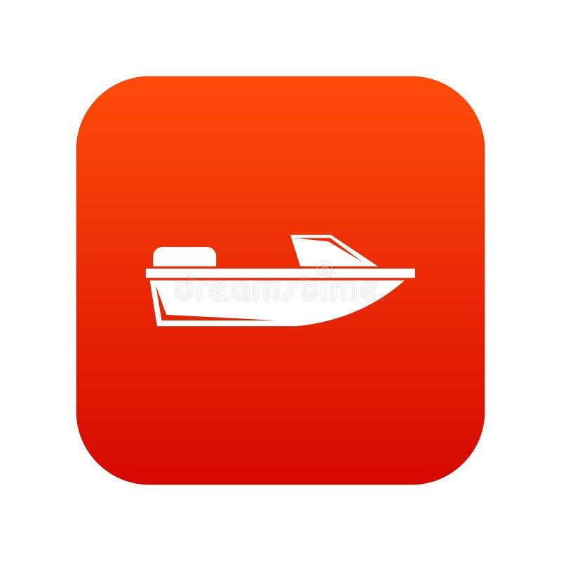Mette in mostra il rosso digitale dell'icona di fuoribordo royalty illustrazione gratis