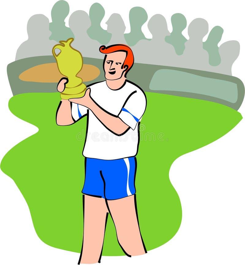 Mette in mostra il vincitore illustrazione vettoriale